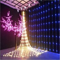 Wholesale Green Colored Led Strip - led christmas lights waterproof 3*3m 10*3m 6*4m 10*8m Christmas ornament lights Flash Colored Fairy wedding Decoration LED Strip Light CE UL