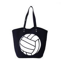 Wholesale Canvas Extra Large Tote Bag - ROYALBLANKS Personalized Wholesale Canvas Volleyball Bag Custom Sport Canvas Tote Game Bag (Can add Embroidery Team Name On the Bag)