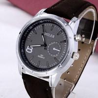 Wholesale Men S Sport Clock Fashion - s Quartz Wristwatches MILER Watch Watch Sport Men's Watch Fashion Military Wrist watches Clock Men erkek kol saati relogio masculino rel...