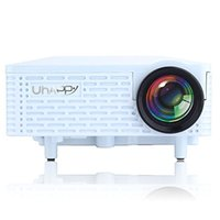 Atacado- UHAPPY U18 Multimedia Mini Projetor Portátil HD LED Projetor Micro Home Theater, Suporte PC Laptop HDMI VGA Entrada e SD + USB