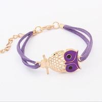 gemischte eulenordnung großhandel-Beste Geschenk Explosive Retro Stalled Owl Bracelet Persönliche Armband FB270 Mix bestellen 20 Stücke viel Charm Armbänder
