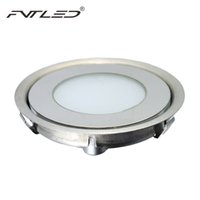 Wholesale Led Round Light Deck - Wholesale-6pcs Lot58mm Diameter Recessed Underground Lamp Ultra Thin Stainless Steel 12V 0.5W IP67 Round LED Landscape Light for Deck Step