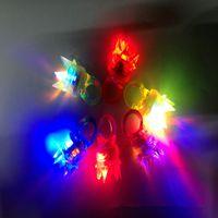 ingrosso giocattoli morbidi della gelatina-All'ingrosso-50pcs / lotto Partito LED Morbido gelatina incandescente decorativo anelli di barretta di luce, luce lampeggiante anello di Natale di compleanno bambini Light-up giocattoli