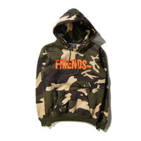 Wholesale Street Sweatshirt Collar - 016SS VLONE Friends Hoodies Men Women Camouflage Fleece Hip Hop Street Clothes Men Sweatshirt Palace Yeeus Vlone Hoodie