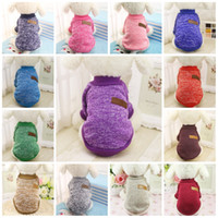 Wholesale warm clothes for small dogs - Fashion Pet Clothes Classical Universal Dog Sweater For Winter Keep Warm Cat Dogs Sweaters Factory Direct Sale 7gg B