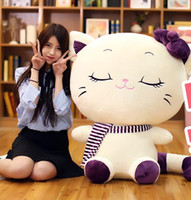 Wholesale Stuffed toy girl cuddly cat doll doll with pillow a cute and lovely child s birthday present