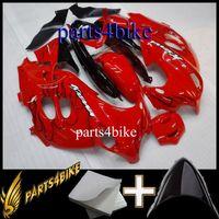 katana vücut perdesi toptan satış-Suzuki GSX600F için ABS Fairing 03 06 GSX600F Katana 2003-2006 03 04 05 06 siyah alev kırmızı Motosiklet Vücut Kiti