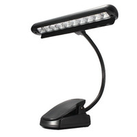 Wholesale Clip Flexible Light - Rechargeable Table Lamp 9 LED Clip Light Table Reading Light Orchestra Arm Flexible Adapter Book Reading Lamp Book Lights Piano Lamp