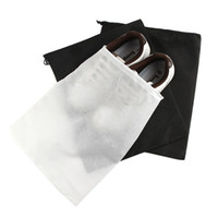 Wholesale Shoes Storage Case - Eco Friendly Non-Woven Supreme Shoes Storage Bags Travel Storage Dust-Proof Tote Dust Cases Black White Pouch Tote Bag Dust-Proof