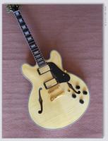 Wholesale Jazz Guitars Natural - Natural Custom 335 Classic Jazz Guitar Best High Quality Wholesale Guitars HOT