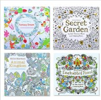 Wholesale 4 Design Secret Garden Beauty and the Beast Coloring Book Children Relieve Stress Kill Time Graffiti Painting Magic forest Drawing Book P021