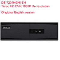 Wholesale Dvr Ip Channel - Hikvision Original English version Turbo HD DVR DS-7204HGHI-SH SUPPORT HD-TVI Analog IP Camera 4ch Full channel@720P real-time