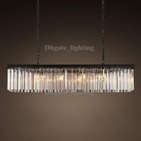 Wholesale Chandeliers Clear Black - Replica item industrial length 80cm CLEAR GLASS PRISM RECTANGULAR CHANDELIER vintage k9 lustre crystal free shipping