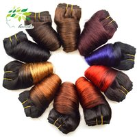Wholesale black hair perm curly for sale - 8 Inch Ombre Brazilian Loose Wave Virgin Hair g Fashion Bob Human Hair Extensions Spring Curly Wave hair weft