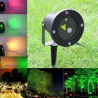 luz de jardim laser vermelho venda por atacado-LED Gramado A Laser Firefly Luzes Do Estágio Paisagem Verde Vermelho Projetor Jardim Do Natal Do Céu Da Estrela Lâmpadas de Gramado com controle remoto Por DHL