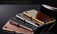 Wholesale Mirrored Rose Compact - Free Shipping Mirror Phone Case For Sony Xperia XA XA1 Ultra Rose Gold Mirror Case For Sony Xperia X Performance   X Compact