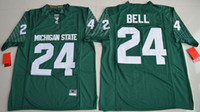 Wholesale College Football Jerseys Michigan - Le'Veon Bell 24 Michigan State Spartans College Alumni Football Limited Jersey - Green Size S,M,L,XL,2XL,3XL