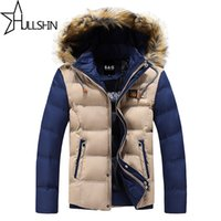 Wholesale White Western Jacket - Wholesale- 2016 Thick Warm Winter Jacket for Men Waterproof Fur Collar Parkas Hooded Furry collar Coat high quality Western style WQ8867