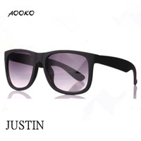 Wholesale Hot Sunglasses Square - AOOKO HOT Gardient Justin Retro 601 8g Sunglasses G15 brown gray UV400 Men Women Draving Brand Designer Fashion Lunette Occhiali Sun Glasses