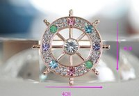 Wholesale Designer Crystal Brooches - High quality brooch best-selling female designers captain brooch fashion beautiful crystal brooch holiday gifts The size of 4 cm