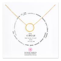 weißgoldkreis anhänger großhandel-Mit weißer Karte Mode Kreis Anhänger Dogeared Halskette Glauben Frauen Legierung Schmuck Geschenk