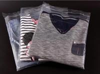 kunststoffbekleidung verpackung großhandel-500 stücke 28x42 cm Klar selbstklebende Kleidung Kunststoff Verpackungsbeutel, dicke PE Tasche für Bekleidung Shirts Jean, 100 Pack