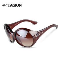 gafas de sol de forma redonda al por mayor al por mayor-Venta al por mayor- 2015 nuevas gafas de sol de las mujeres del diseñador de la marca de gran tamaño en forma redonda gafas casual gafas de sol al aire libre Eyewear 5016