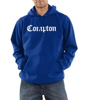 Wholesale Compton Sweatshirt - Wholesale- Sweatshirt men fashion 2017 Compton fleece hoodies High quality hip-hop tracksuits autumn winter male fleece hooded harajuku top