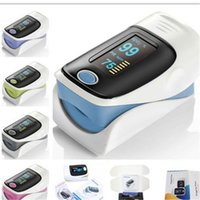 Wholesale 2016 Hot selling New Fingertip Pulse Oximeter SPO2 Pulse Rate Oxygen Monitor for household health Measuring