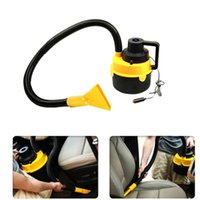 Wholesale high power vacuum cleaner portable - Wholesale-free shipping Dc12V High Power Wet And Dry Portable Handheld Car Vacuum Cleaner Washer Car Mini Dust Vacuum Cleaner