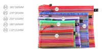 Vente chaude 24pcs / lot plus coloré Travel Cosmetic Bag Purse Organizer Makeup Pouch Toiletry Box Pen Pencil Case
