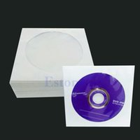 Wholesale Dvd Disc Storage - Wholesale- 50 100pcs 5inch CD DVD Disc Paper Sleeves Envelopes Storage Clear Window Case Flap