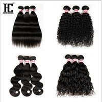 Wholesale straight thick hair - Brazilian Peruvian Hair Bundles Straight Body Wave Deep Wave Loose Wave Kinky Curly g Thick Hair Price