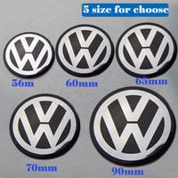 Wholesale vw passat cc wheels online - 4pcs MM MM MM MM mm mm for VW Passat B6 B7 CC Golf Jetta MK5 MK6 Tiguan Wheel center stickers Wheel center hub Emblem Sticker