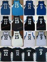 Wholesale Butler Jerseys - 2017 NWT 23 Jimmy Butler Jersey Men 32 Karl-Anthony Towns 9 Ricky Rubio 22 Andrew Wiggins 8 Zach LaVine Basketball Jerseys Black Blue White