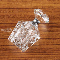 Wholesale Vintage Crystal Bottles Wholesale - Wholesale- Vintage Clear Crystal Cut Glass Perfume Bottle Diamond Stopper Refillable 4ml