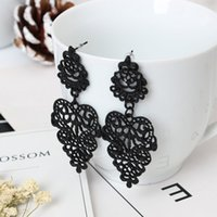 Wholesale planting wild flowers - Wild retro hollow bohemian earrings Europe and the United States jewelry earrings wholesale free shipping