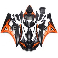Wholesale Yamaha R6 Orange - 3 gift New Fairings For Yamaha YZF-R6 YZF600 R6 06 07 2006 2007 ABS Plastic Bodywork Motorcycle Fairing Kit Cowling Cover Orange Black