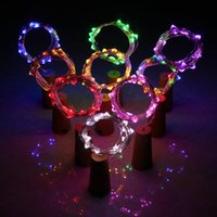 Wholesale 1m Purple Fairy Lights - MJJC 1M 2M 3M mini string lights Battery Operated Silver Copper Wire Starry Rope Fairy String Lights for Bottles