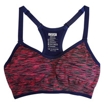 Wholesale Seamless Spaghetti Straps Tops - Women's Adjustable Spaghetti Straps Professional Push up Bra Fast absorption Sweat Seamless Top Vest With inner padded Underwear