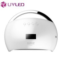 Wholesale Smart Nail Polish - Wholesale- New version SUN6 Smart Lamp Nail LED Nail Dryer Metal Bottom LCD Timer Multicolors for Curing UV Gel Polish Nail Art