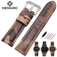 dropshipping camouflage watch strap uk uk delivery on fashion 22mm 24mm 26mm watch bands strap camouflage genuine leather watchband belt men wristwatch bands for panerai dropshipping uk