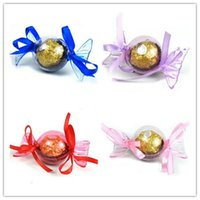 Wholesale Lovely Sweet Wedding Gift Box - Free Shipping 100pcs Transparent Lovely Clear Acrylic Plastic Sweet Shaped Favor Boxes Chocolate Package Party Table Supplies Reception Gift