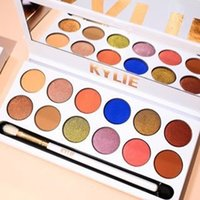 3986 spot tray - Makeup spot kylie Xoxo kelly color eye shadow dish bead light bronze color with eye shadow brush set KY eye shadow tray kylie Cosmetics