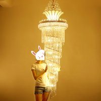 Wholesale Hanging Touch Lamps - LED Modern Crystal Chandeliers American Gold Chandelier Lighting Fixture Warm White Neutral White Cool White 3 Colors Dimmable Hanging Lamps