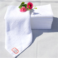 Wholesale Towel White Hands - 100% Cotton Kitchen Towels White Color Hotel Use Hand Wash Towel Face Towel Small Size Towels 30*30Cm 60G
