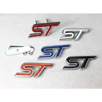 ST 3D Metal Front Hood Grille Badge Grill Emblem Auto Stickers Car LOGO para Ford White / Red / Black / Blue / Orange
