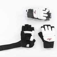 Wholesale Taekwondo Fighting Gloves - Taekwondo Glove Fighting Hand Protector Martial Arts Sports Hand Guard Boxing Gloves Hand Protective Tool Sanshou Nibbling Gloves Handmade H