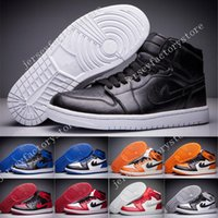 Wholesale Top High Cut Shoe Brands - 2017 Mens Athletic Retro 1 High Black Toe Basketball Shoes Brand I OG Top 3 Sports Trainer Sneakers running shoes for men shoe size 40-47