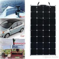 Wholesale Solar Cells For 12v Battery - Factory Price Retail solar panel 100w; semi flexible solar panel 100w; mono solar cell 125*125mm for 12V battery charger